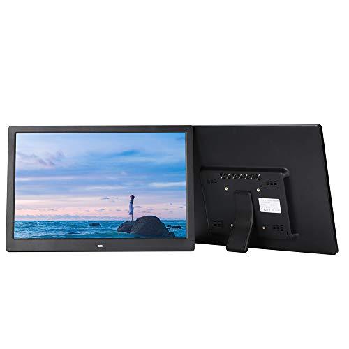 TONGTONG 14 Zoll Digital Photo Frame High Resolution Display MP3 Video Player Kalender Alarm-Uhr mit Fernbedienung Unterstützung USB SD-Karte - Zoll Frame 14 Digital Photo