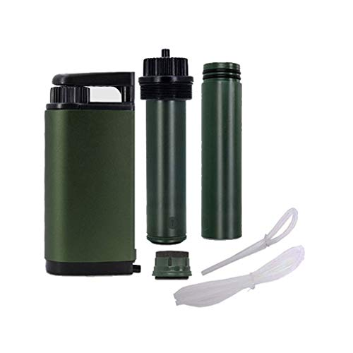 WPCBAA Outdoor-Wasserfilter Hohe Filterrate Virus und Schwermetall getestet 0,01 Portable bis zu 3000 Liter für die Erholung Wandern Camping Notfall