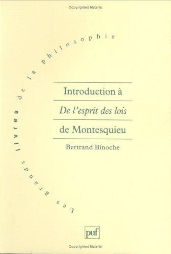 Introduction à De l'esprit des lois de Montesquieu