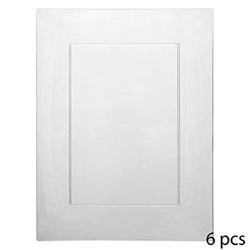 Lot de 6 Assiettes Plates Plastique\