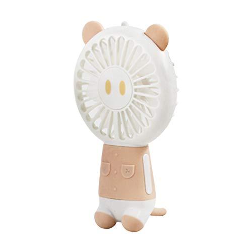 Handventilator,LED-Laternen-Mini-Lüfter mit Lanyard,Schwein,Hellorange für Reisen und Zuhause