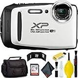 FUJIFILM FinePix XP130 Digital Camera (White) Plus Bundle