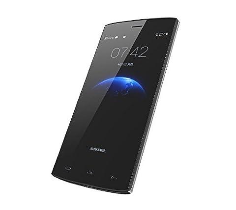 """Haehne HOMTOM HT7 PRO - 5,5"""" HD 4G Smartphone, Android 5.1, 2Go+16Go 5.0MP+13.0MP Double Caméra Intelligente Wake Geste Téléphones Portables Débloqués, Argent"""