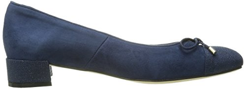 Andre Assous Vera Femmes Daim Chaussure Plate Navy Suede