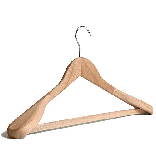 Yunfeng Kleiderhaken,Wand-Kleiderbügel Kampfer Holz Kleiderbügel Hotel Breite Schulter männlichen Damen Anzug Kleiderbügel 10er Set