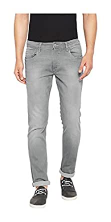 TURMS Stain Repellent & Odour Free Men's Grey The Creator Slim-Fit Jeans