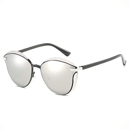 MQW Herren/Damen Fahren Blackout Retro Sonnenbrille Strand Outdoor Reisen Radfahren Angeln Sonnenbrille UV400 UV Polarisierter Ultradünner Rahmen Gold Mode Persönlichkeit (Farbe : Silver)