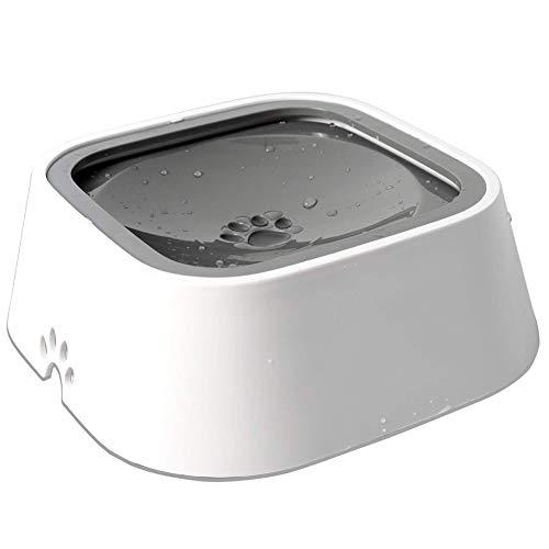 SOOKi Wasserschale für Hunde schwimmender Scheibe Spritzwassergeschützte Wasserschale, Anti-Überlauf/Anti-Staub/Anti-Erstickungs-Schüssel Verlangsamung Trinkgeschwindigkeit (Nasse Decke Kostüm)