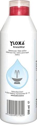 Yloxa KristallKlar – Additif concentré pour l'eau des fontaines, murs, colonnes, cascades et brumisateurs d'eau pour l'intérieur et l'extérieur – flacon de 500 ml - Sopra Giochi D'acqua