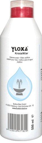 Yloxa KRISTALLKLAR - Wasserzusatzkonzentrat für Brunnen, Wasserwände, -säulen, -kaskaden und Vernebler im Innen- und Außenbereich - 500 ml Flasche