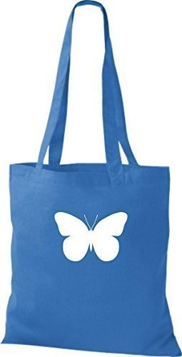 ShirtInStyle Stoffbeutel Schmetterling Butterfly Libelle Käfer Marienkäfer Kult royal