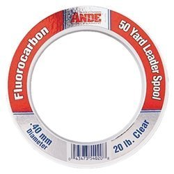 Ande fcw50–30Fluorocarbon Leader Material, 50-yard Spool, 30-pound Test, Clear Finish By Ande (Leader Spool Fluorocarbon)