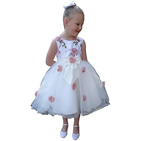 Jessidfress Vestido de ceremonia Vestido de comuniones Vestido de bautizo Damita de Honor Nina de Arra Fiesta Model
