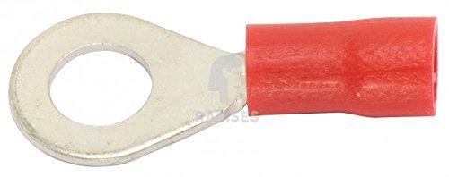 Preisvergleich Produktbild KIESUNDCO Ringzunge teilisoliert, rot 6,5 / 0,5 - 1,5 mm² 100 Stück - PVC-Isolierun - PVC-Isolierung
