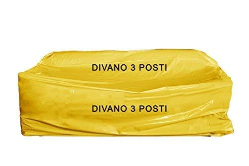 Simba Paper Design 5 Sacchi copridivano Nylon 3 posti x trasloco/conservare Mis. cm 175 x 350