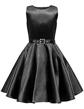 Black Butterfly Niñas Satén 'Audrey' Vestido Vintage Años 50 Clarity