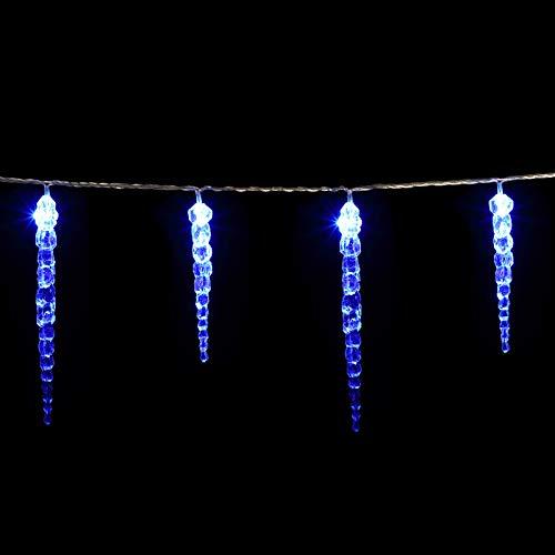 Guirlande lumineuse 40 Stalactites LED Noël Bleu Intérieur et extérieur fêtes