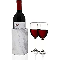 Le support de bouteille de refroidisseur de vin de marbre naturel pour le refroidisseur de vin pour garder le champagne froid également a utiliser en tant que support / vase d'ustensile de cuisine