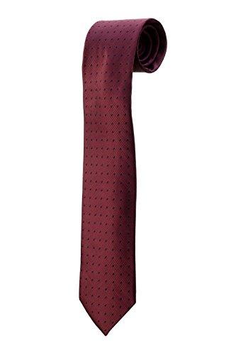 Krawatte rot bordeaux gemustert Fantasie Design Kostüm Herren Hochzeit (Cravate Bordeaux Kostüm)