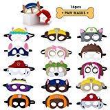 OMZGXGOD - Maschere di Animali,16 Pezzi Animal Masks Bambini per Festa di Compleanno, Mascherata, Halloween