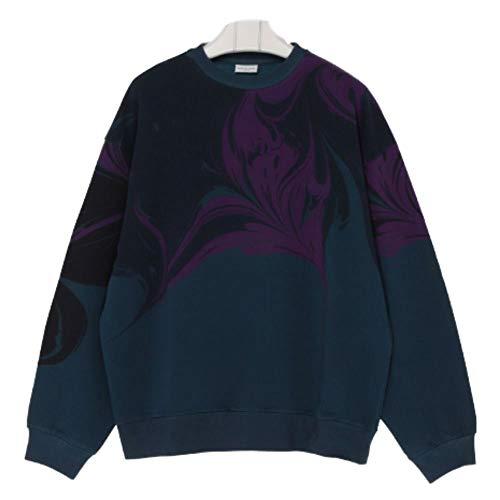 Dries van Noten Herren 211826614802 Blau Baumwolle Sweatshirt