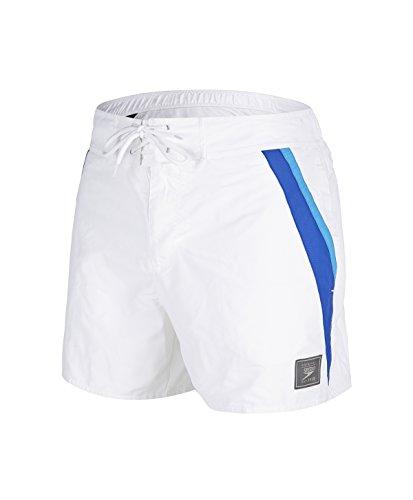 Speedo Herren Badeshorts Retro Leis 14 Wsht AM White/Blue