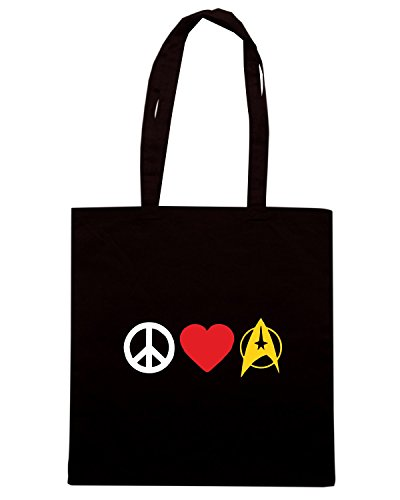 T-Shirtshock - Borsa Shopping TLOVE0124 peace love trek Nero