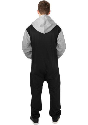 URBAN CLASSICS - College Sweat (black/grey) - Jumpsuit, M/L - 2