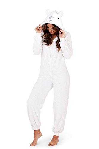 Martildo, Damen Luxus 3D Tier Alles in Einem Jumpsuit Einteiler, Polarbär, EU 40-42 (Teddy Bär Kostüm Damen)
