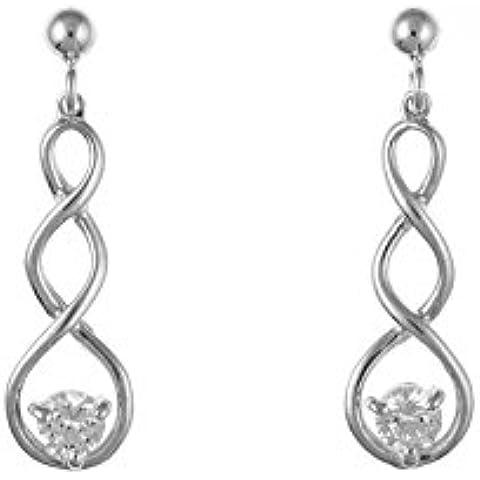 Design Celtico in argento Sterling zircone cubico orecchini pendenti