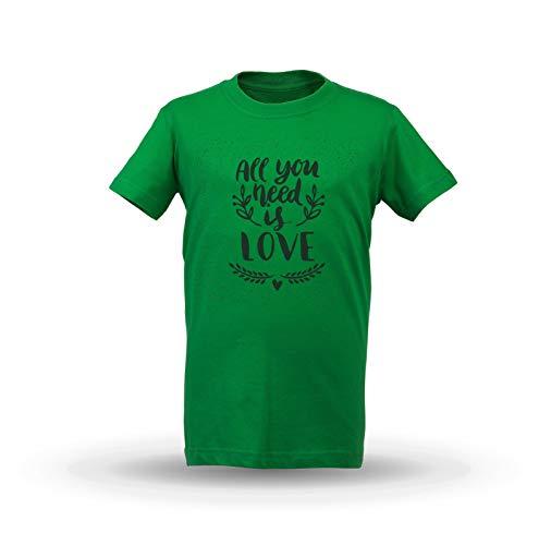 KrisTalas niños Camiseta de Las niñas All You Need Is Love Love T-Shirt  Quotes a8e7afbaae8