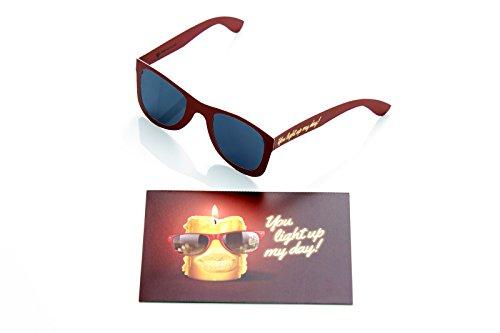 Juego 2, tarjeta cumpleaños gafas sol I tarjeta felicitación
