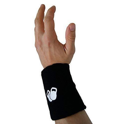 PROTONE Kugelhantel Handgelenk und arm Schutz - EIN Paar mit schlankes Design mit rüstung Einsatz für Schutz - Schwarz, One Size -