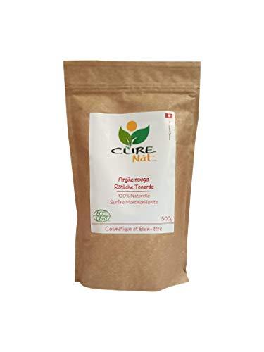 Arcilla roja Montmorillonite 500 g - Polvo 100% natural