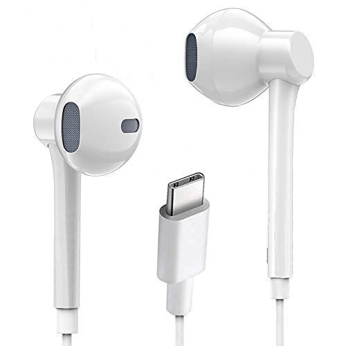 Luvfun Auricolari,Auricolari USB c Auricolari USB Tipo c Auricolari Tipo c Cuffie con Microfono e Controller in-Ear con Cancellazione del...