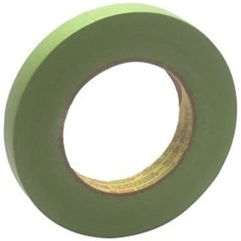 3M Scotch 233+ Performance Critical Edge Masking Tape, 25 lbs/in Tensile Strength, 55m Length x 18mm Width, Green by Scotch