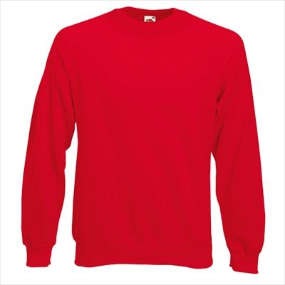 Fruit of the Loom - Sweatshirt 'Raglan Sweat' S,Red