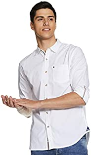 Amazon Brand - Inkast Denim Co. Men's Solid Slim Fit Full Sleeve Casual S
