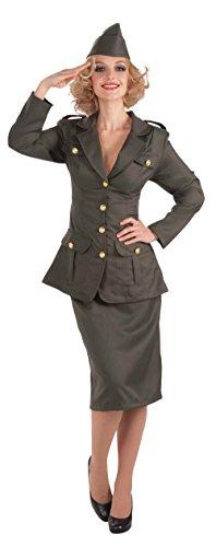 FORUM Novelties AC573 Zweiter Weltkrieg Mädchen in der Armee Kleid