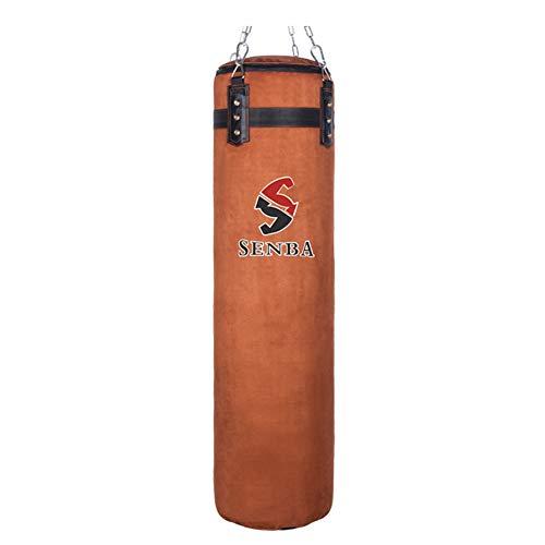 GYPPG Rindsleder Boxen Boxsäcke Mit Freie Kette Und Armband Kickboxen Boxsack Fitness-Ziel Bodybuilding Fitnessgeräte, Ungefüllt,180cm