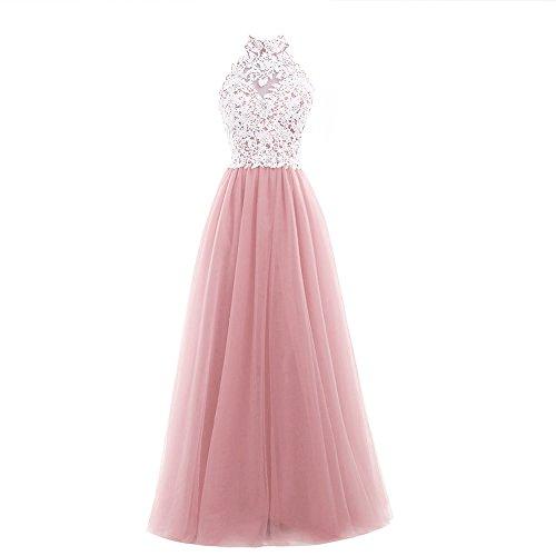 Damen A-Linie Zwei Teile Langes Lace Tuell Abendkleid Ballkleid Brautjungfer Cocktail Party Kleid Hochzeit Kleid