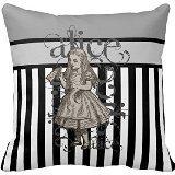 Alice im Wunderland Grunge (schwarz weiß) Kissen 18x 18Zwei Seiten Betten Home Dekoration Kissenbezug