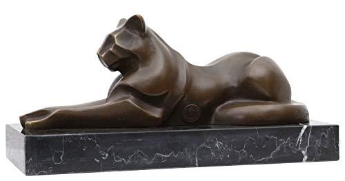 aubaho Bronzeskulptur Katze im Antik-Stil Bronze Figur Statue 26cm