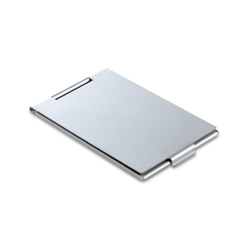 Miroir de poche, simple, compact, plat, en aluminium