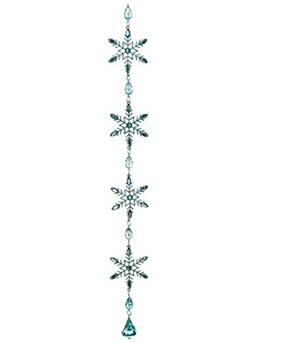 Allstate Winter Frost Aquamarine Blue Glitter Snowflake Christmas Dangle Ornament, 20 by Allstate -