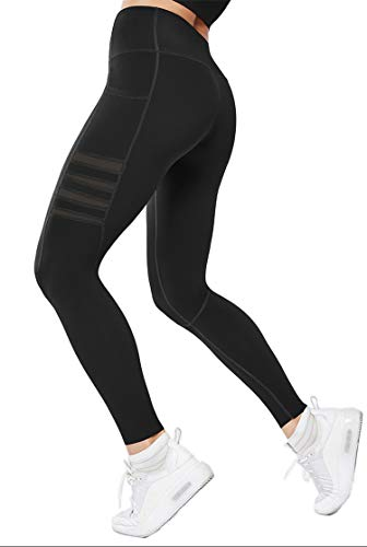 Gmardar Mallas para Mujer Cintura Alta Pantalones de Yoga Largos de Talle Alto Elásticos Transpirables Leggins Pantalón Deportivo de Mujer para Running Fitness Pilates Entrenamiento Ciclismo