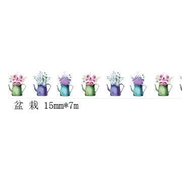 YTAPE Original Japanischen Cartoon Und Papierband Grundlegende Handgemalte Farbe Nette Handbuch Tagebuch Diy Dekoration 10 Volumen, [Topfpflanzen]