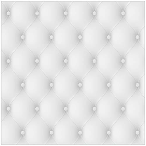 #Wallario Möbeldesign/Aufkleber, geeignet für IKEA Lack Tisch – Weiße Ledertür in 55 x 55 cm#