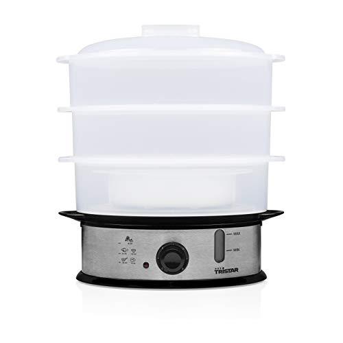 Tristar VS-3914 Cocedora a Vapor Libre de BPA 3 Capas, 1200 W, 11 litros, Blanco
