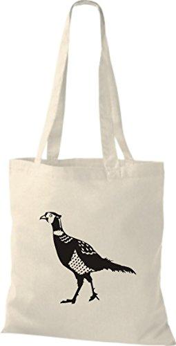 Shirtstown Stoffbeutel Tiere Fasan Pheasant, Huhn Natur
